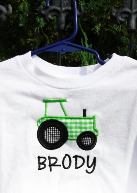 Tractor Applique Tee