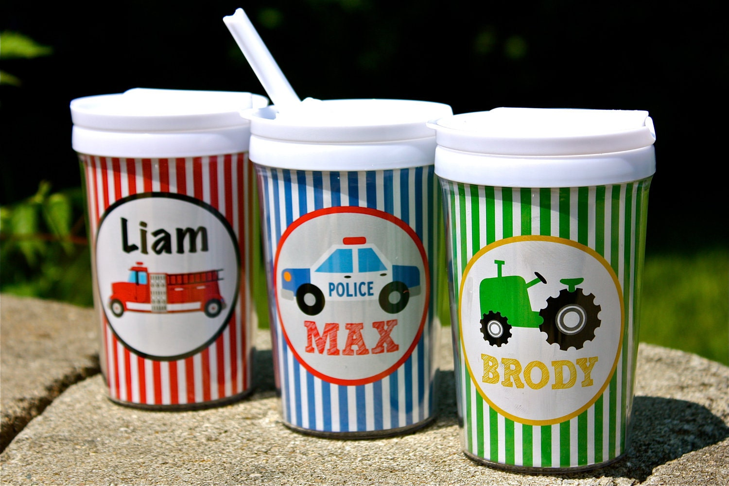 Personalized Sippy Cup With Straw Graphic