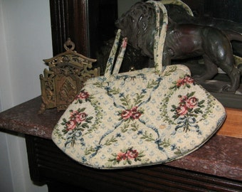 Vintage 1940's Tapestry Purse