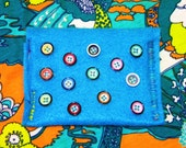 Turquoise Trinket Coin Purse-Made from 100% Post-Consumer Recycled Plastic Bottles