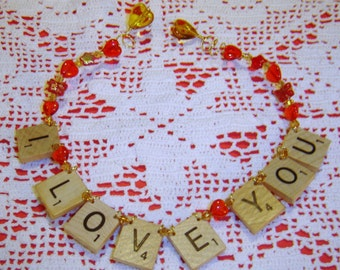 I Love You - Scrabble Tile Ornament