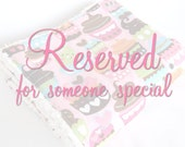 Reserved for Allison - A bib and burp cloth set