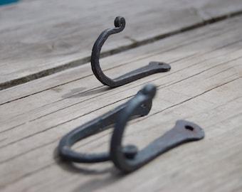 """5 pack // """"J"""" Hooks // hand forged // ironwork // hooks // wrought iron hooks"""