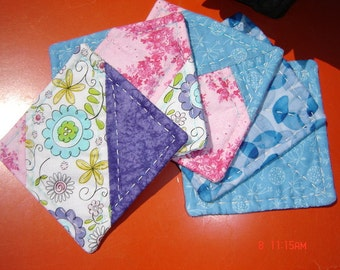 SALE Set of 5 Patchwork Flower Coasters was 9.99