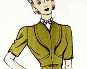 Vintage 1930s sewing pattern. Simulated ornamental collar.