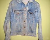 Vintage Western Wear 2 Pocket  Denim Jacket size Medium 1970s made in the USA