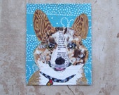 All Dogs Make up a Corgy in Fabric Collage Art