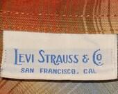 Vintage 1970s Levis Strauss & Co Plaid Western Shirt