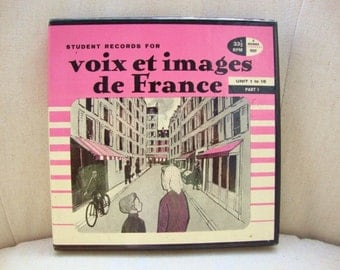 Vintage French Language Lesson Instructional Records