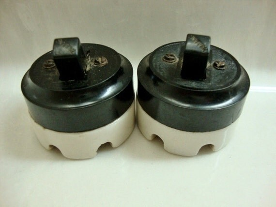 Vintage Paulding Porcelain and Bakelite Switches