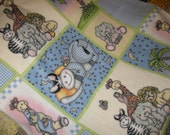 SALE - Bazooples Baby Fleece Crib Blanket