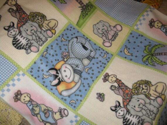 SALE - Bazooples Baby Fleece Crib Blanket