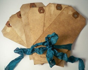 300 LARGE Vintage Gift Tags. Hang Tag. Vintage Wedding Invitation. Save The Date. Shabby Chic. Blank. Escort Card. Stained. Distressed. DARK