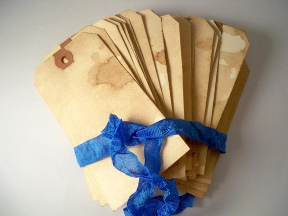 100 LARGE Vintage Wedding. Anthropologie Wedding. Travel Theme Invitation. Vintage Hang Tags. Luggage. Blank. Rustic. Save The Date. LIGHT.