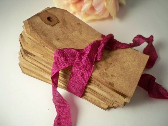 200 MEDIUM Escort Card. Vintage Gift Tags. Anthropologie Wedding. Travel Theme Shabby. Invitation. Save The Date. Stained. Rustic. DARK.
