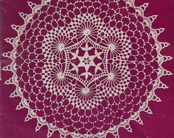 1956 Swirls Vintage Crochet  Doily Pattern PDF
