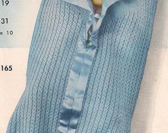 1953 Vintage Knit Baby Bunting Pattern, PDF, Knitting