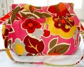 Pink poppy paisley handbag