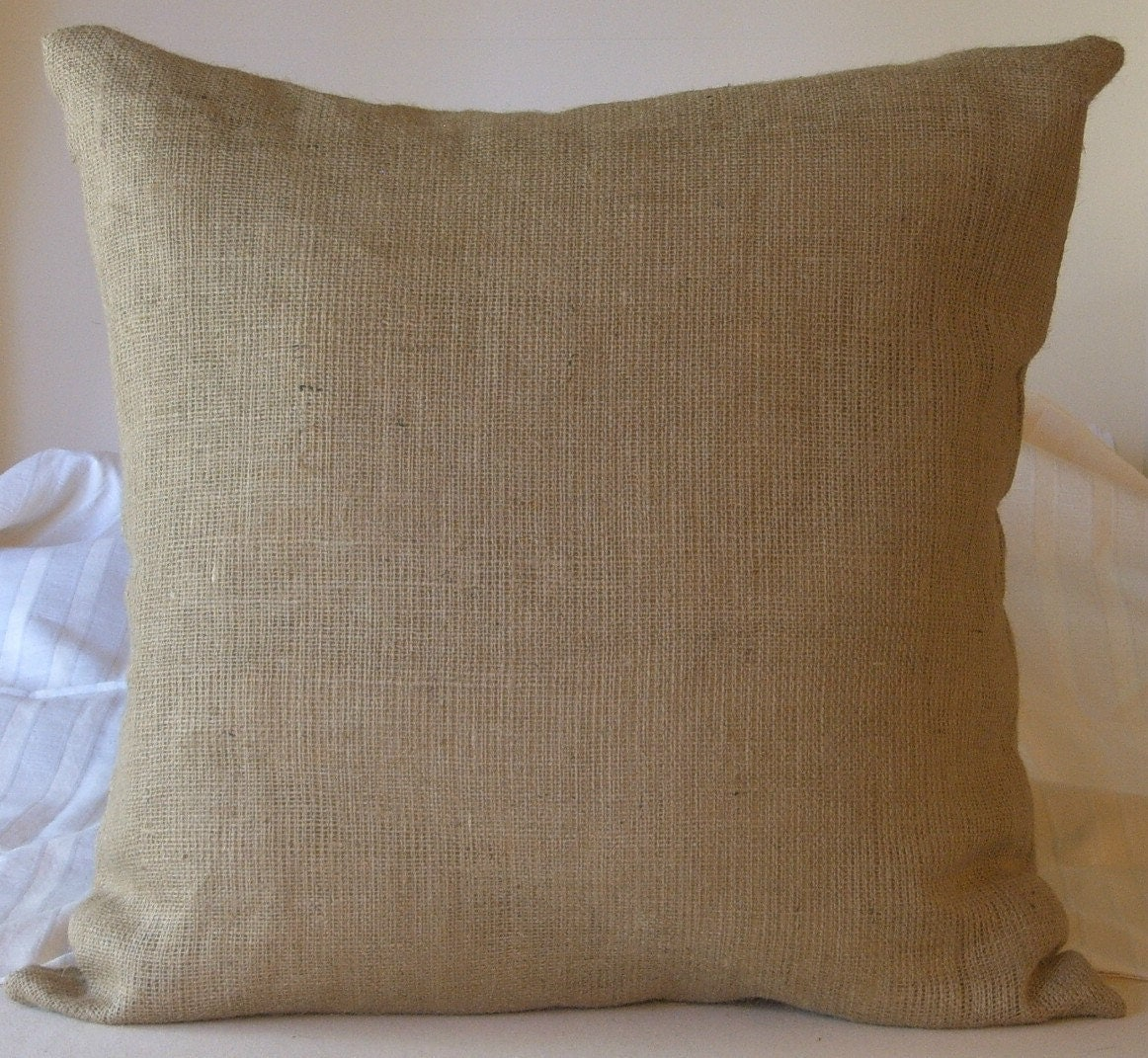Burlap Euro Shams Pillow Cover 28 X 28 Lined For