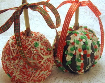 6-Pack Holiday Caramel Chocolate Apples