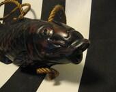 Vintage Carved Wooden Fish