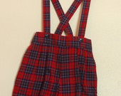 Vintage Plaid Pants with Suspenders 2T--TREASURY FEATURED