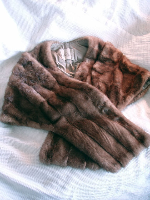 RESERVED for Donna. CLEARANCE. Vintage Mink Stole from the 1950's.
