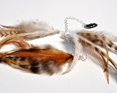Long Feather Extensions Clip in Feathers-Natural