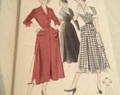 Late 1940s Early 1950s Dress Pattern Butterick 4952 Bust 36