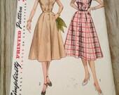 1950s Dress Pattern Simplicity 4260 Bust 38 Size 20