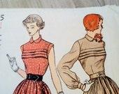 1940s Dress Pattern Simplicity 3075 Bust 29 Teen Size