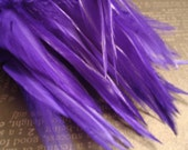 Feather Hair Extensions ADD on with two Bright Purple Feathers