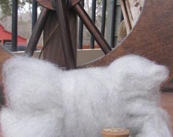 Light Grey Shetland Wool Roving - 8 oz.