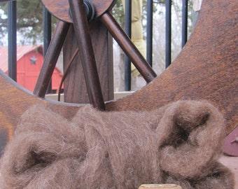Light Brown Shetland Wool Roving - 8 oz.
