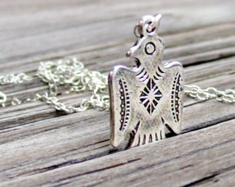 Thunderbird Necklace - Sterling Silver - Native American Jewelry - Southwestern Jewellery