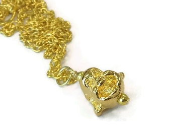 Buddha Necklace Chinese Jewelry Happy Buddha Yellow Gold Chain Jewellery Good Luck Asian Oriental  Head N-290