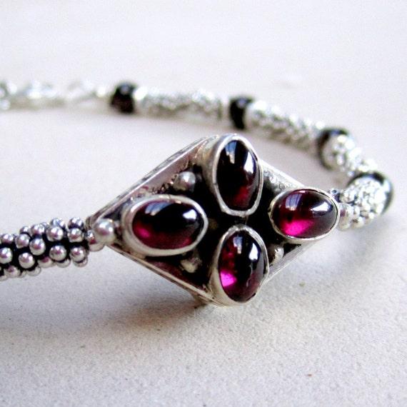 garnet bracelet gemstone jewelry sterling by jewelrybycarmal