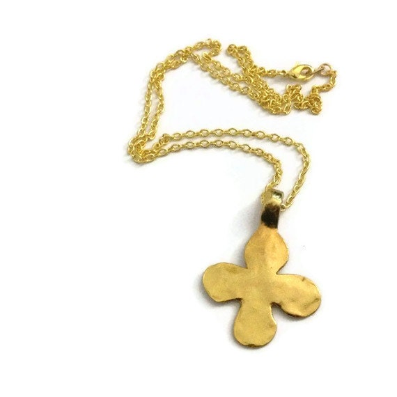 Custom Listing for Jules - Celtic Cross Necklace Gold with 24 inch chain