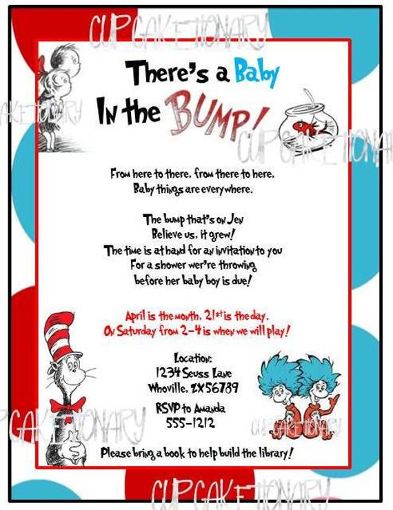 Items Similar To Dr Seuss Baby Shower Invitation I Print