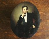 Abraham Lincoln box, decoupage box