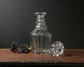 Crystal decanter, vintage glass bottle RESERVED LISTING