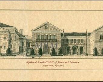 Basebal Hall of Fame, Cooperstown print
