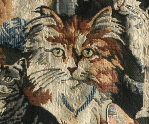 Tapestry Fabric upholstery remnant Cats and kittens : il570xN238558901 from www.etsy.com size 570 x 471 jpeg 85kB