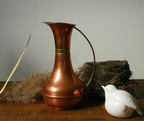 Vintage copper pitcher, copper vase