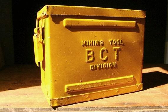 Metal tool box, BCT Mining tool box.