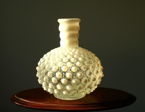 Moonstone hobnail perfume bottle