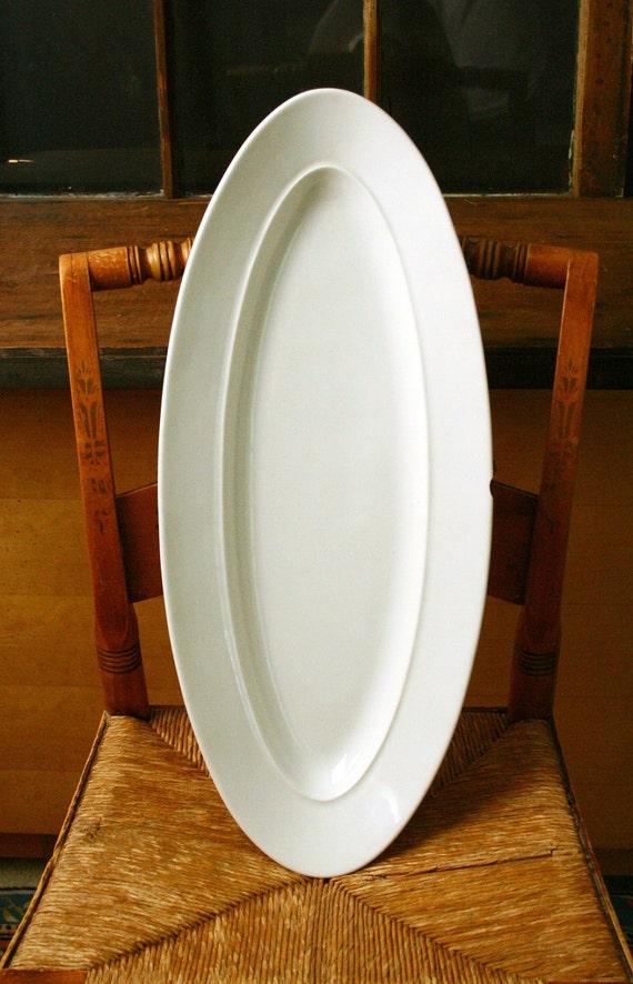 Ironstone fish platter.