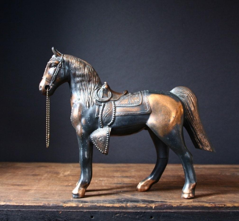 Copper Carnival Prize Horse Vintage Copper Horse