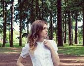 White Cotton Peter Pan Collar Dress 52Dresses