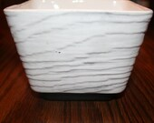 Vintage Shawnee Pottery Square Planter Black and White